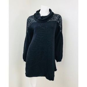 Style & Co Large Black Lace Sleeve Sweater Long